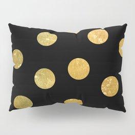 NL 8 Gold and Black Polka Dots Pillow Sham