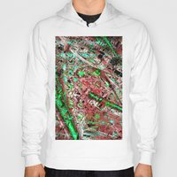 los angeles Hoodies featuring los angeles by donphil