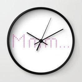 Mmm Donuts Wall Clock