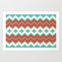 ikat Art Prints featuring Ikat by Deepti Munshaw
