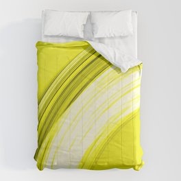Semicircular sections of yellow metal with intersections of bright strings.  Comforters
