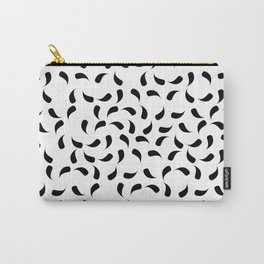 Black and White Modern Tear Drop Pattern Carry-All Pouch