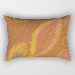 Golden Crewel Rectangular Pillow