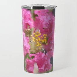 Pink Crepe Myrtle Travel Mug