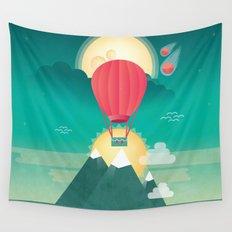 Sun, Moon & Balloon Wall Tapestry