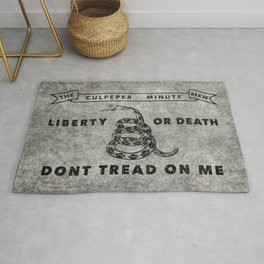 Culpeper Minutemen flag, Worn distressed version Rug