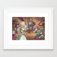 returns Framed Art Prints featuring Alice returns by Caroletta