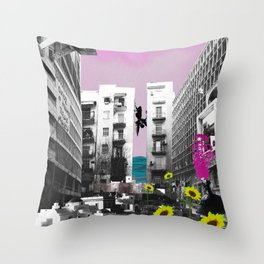 It's Hard To Go Down [When You're Up.] Throw Pillow
