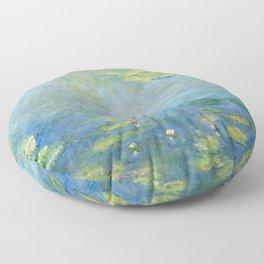 Water Lilies 1906 by Claude Monet Floor Pillow