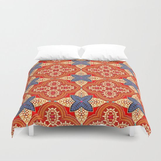 Moroccan Motet Pattern Duvet Cover