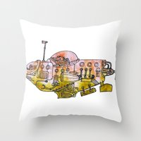 submarine Throw Pillows featuring Submarine  by Joseph Kennelty