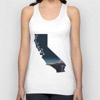 santa monica Tank Tops featuring California: Santa Monica Pier by Brooke Loeffler