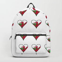 Flag of Wales 3 ,uk,great britain,dragon,cymru, welsh,celtic,cymry,cardiff,new port Backpack
