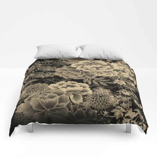 Vintage Floral Abstract Comforters