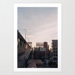 manhattan bridge, nyc Art Print