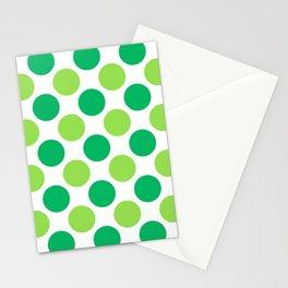 Green polka dots Stationery Cards