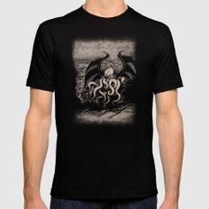 The Rise of Great Cthulhu Black Mens Fitted Tee MEDIUM