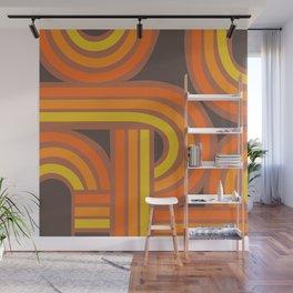 70's Orange Funky Wall Mural