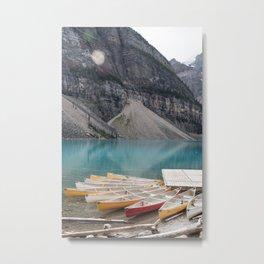 Lake Moraine, Banff National Park Alberta Canada Metal Print