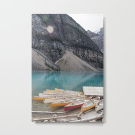 Lake Moraine, Banff National Park Alberta Canada Metal Print