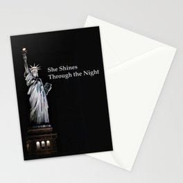 She Shines Through the Night 2 Stationery Cards
