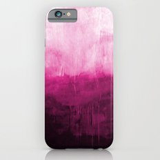 Paint 7 pink abstract painting ocean sea minimal modern bright colorful dorm college urban flat Slim Case iPhone 6s