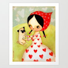 For the LOVE of PUGS Art Print