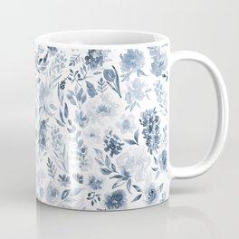 Watercolor florals in blue Coffee Mug
