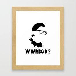 What Would RBG Do? Framed Art Print