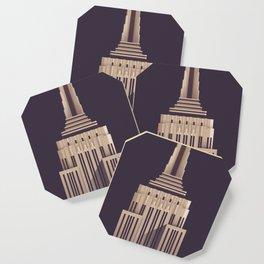 Empire State Building New York Art Deco - Vintage Dark Coaster