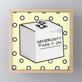 Generosity Framed Mini Art Print