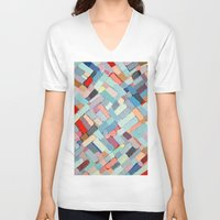 andreas preis V-neck T-shirts featuring Summer in the City by Ann Marie Coolick