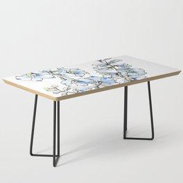 Blue Delphinium Flowers Coffee Table