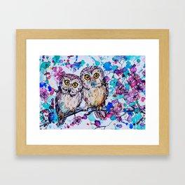 Little Owls version 2 Framed Art Print