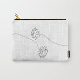 Minimalist roses illustration - Giselle Carry-All Pouch