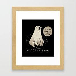 bipolar bear Framed Art Print