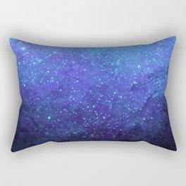 Blue Heavens: Vibrant Starfield Rectangular Pillow
