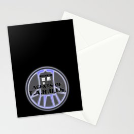 Agents of TARDIS Doctor Who Agents of Shield Mash Up Stationery Cards