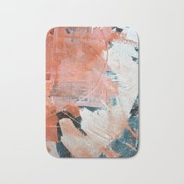 Interrupt [2]: a pretty minimal abstract acrylic piece in pink white and blue by Alyssa Hamilton Art Bath Mat