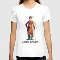 chaplin T-shirts featuring charlie chaplin by mark ashkenazi