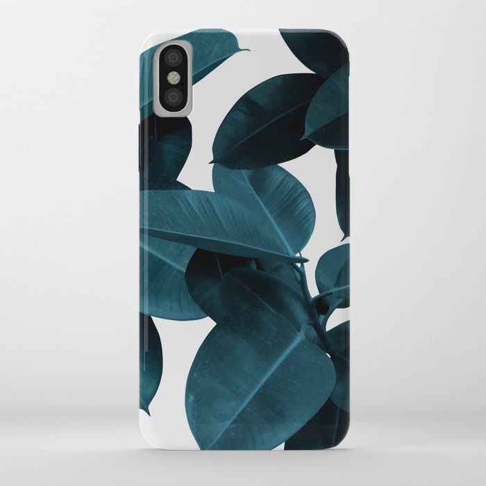 indigo plant leaves iphone case