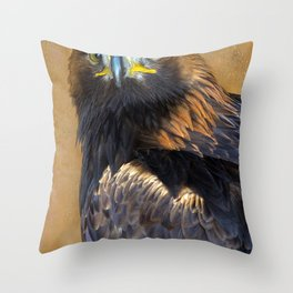 Scottish Golden Eagle Throw Pillow
