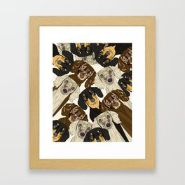 Doxie Nation Framed Art Print