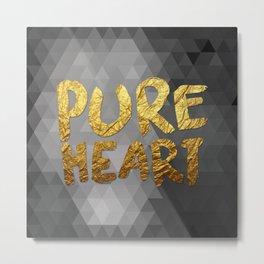 Pure Heart #GoldenPsalms Metal Print