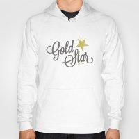 lesbian Hoodies featuring Gold Star Lesbian by ElekTwick