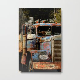 Truckers Never Die Metal Print