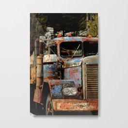 Old Truckers Never Die Metal Print