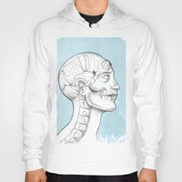 grid Hoodies featuring Grid by isberg illustration