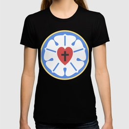 Simple Martin Luther Rose | Lutheran Design T-shirt