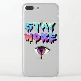 Stay Woke Pastel Clear iPhone Case